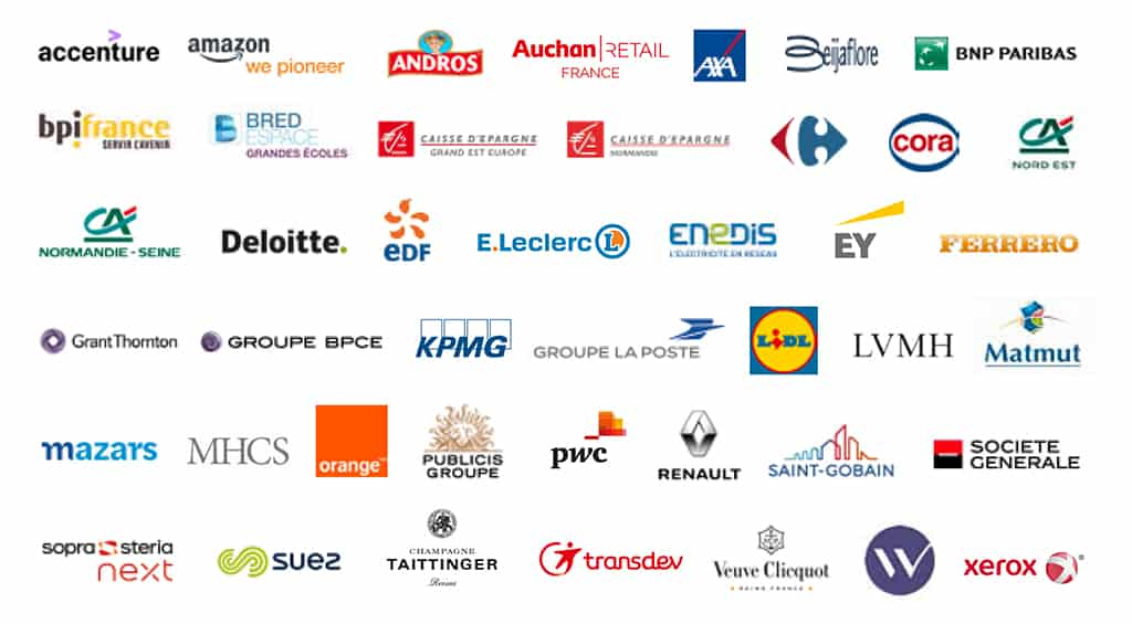 some partner companies of NEOMA